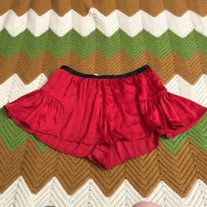 Free People red hot lounge shorts